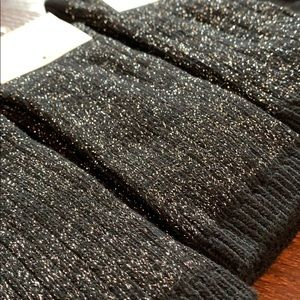 a new day Accessories - NWT 4 Pairs Sparkly black crew socks boot silver